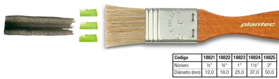 Pinceleta de cerca clara corta Plantec