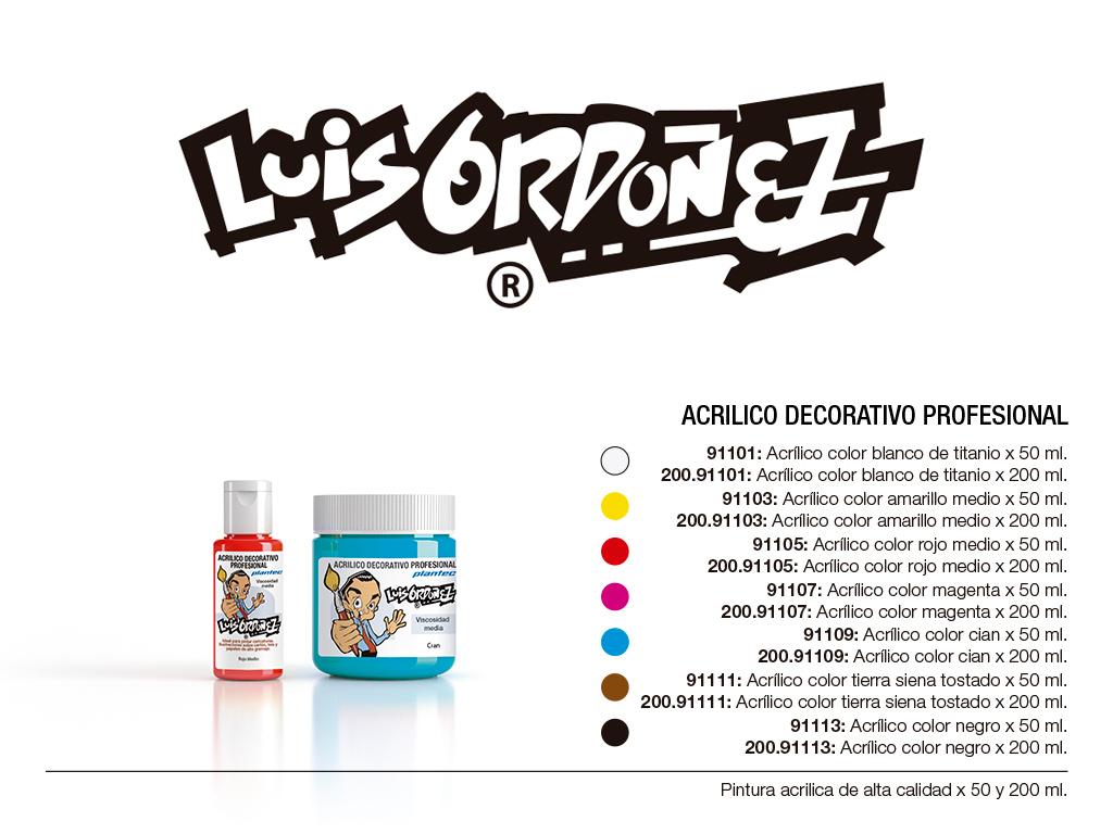 acrilico decorativo profesional colores